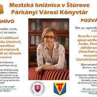 Író olvasó találkozó - Fábián Janka írónővel