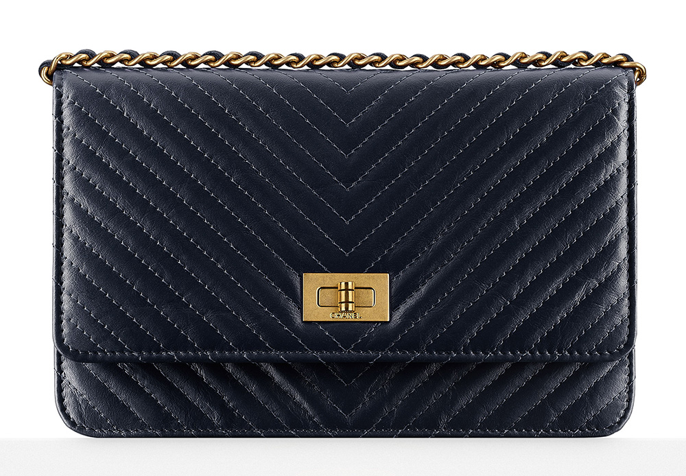 Chanel Chevron Wallet on Chain - $2,100