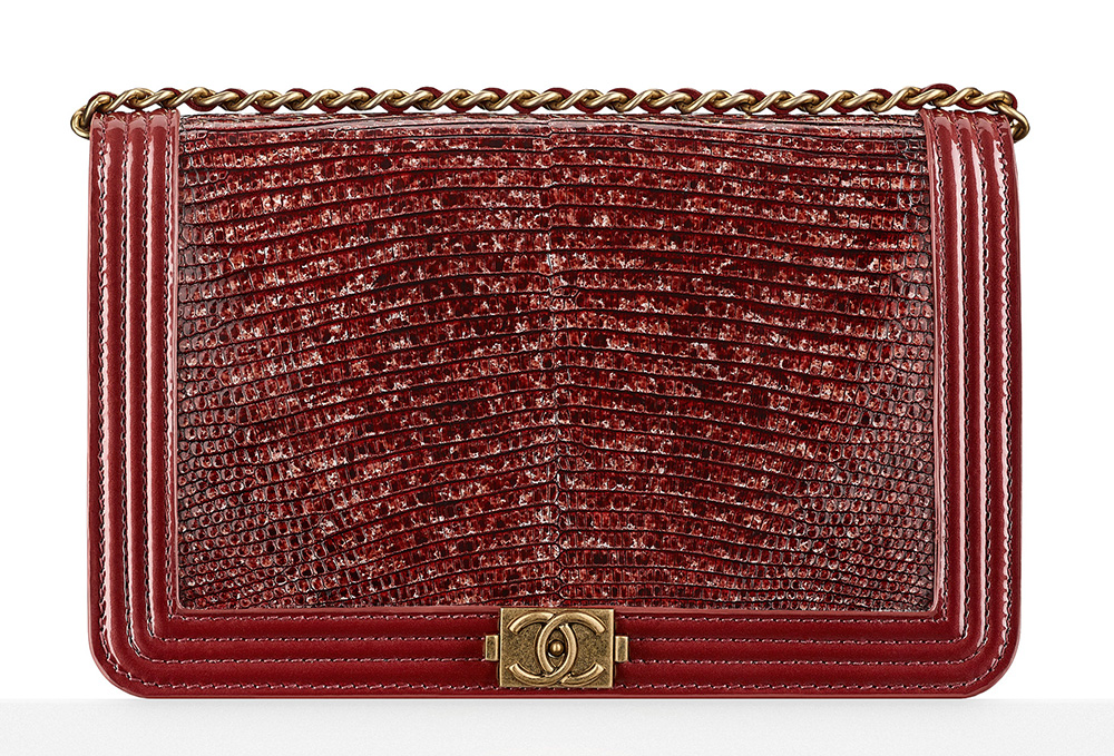 Chanel Lizard Boy Wallet on Chain Bag - $3,500