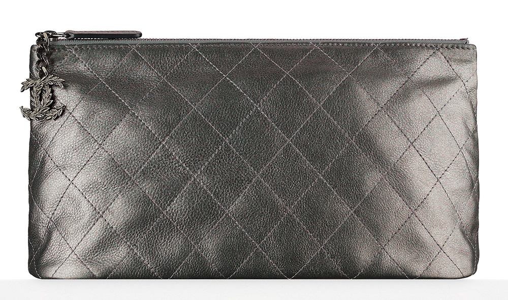 Chanel Metallic Calfskin Pouch - $825