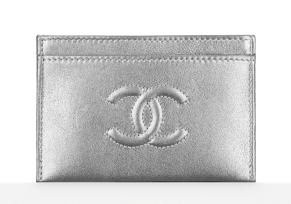 Chanel Metallic Card Holder - $325