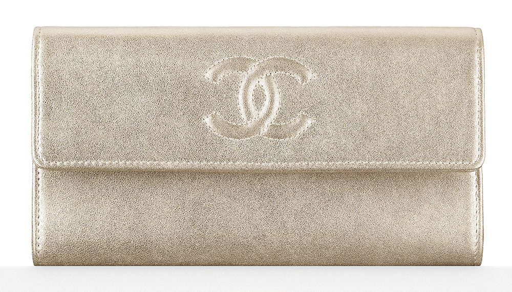 Chanel Metallic Flap Wallet - $825