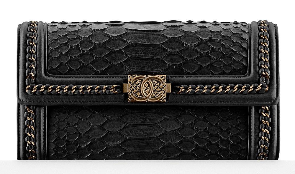 Chanel Python Boy Flap Wallet - $2,600