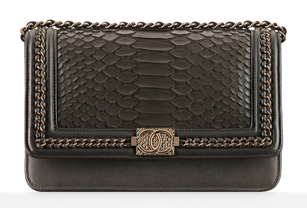 Chanel Python Boy Wallet on Chain Bag - $4,300