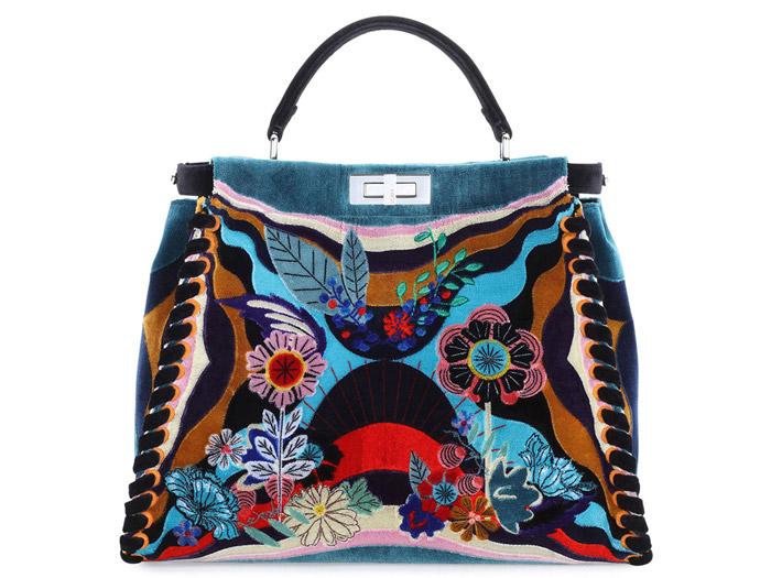 4 / 9 - A legdrágább textil táska<br />Fendi - Peekaboo Embroidered Velvet Bag<br />3.425.000 Ft