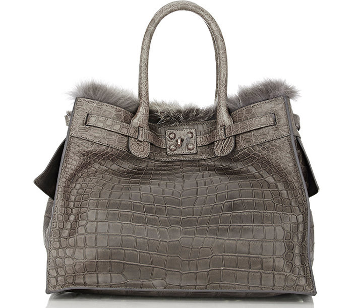 9 / 9 - A legdrágább krokodilbőr táska<br />Zagliani - Crocodile and Fox Fur Gatsby Bag<br />9.864.000 Ft
