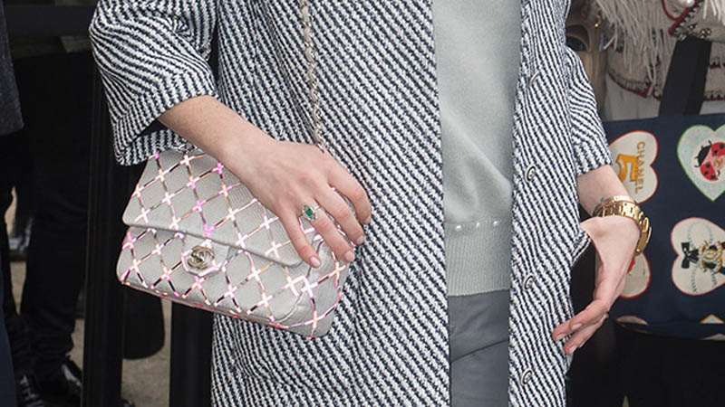 CHANEL SEQUINED FLAP BAG