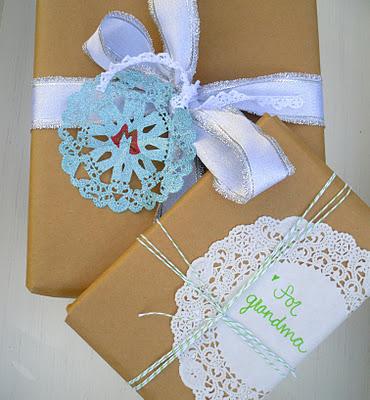 picnik vintage doily christmas wrapping.jpg