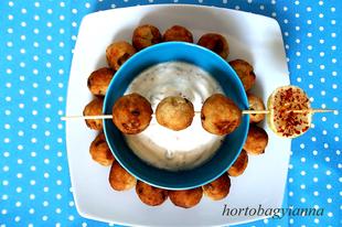 Tonhalas krumpligolyók Hortobágyi Anna recepje alapján