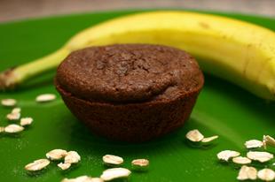 Banános-csokis muffin házi készítésű zablisztből