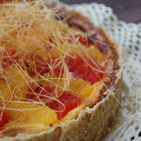 Tejszínes sült torta téli gyümölcsökkel