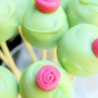 Rózsás cake pop cserépben