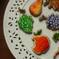 Őszi gyümölcstál