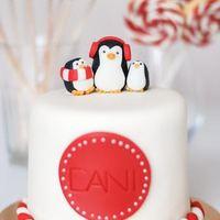 Pingvines desszertasztal