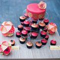 Ostyavirágos esküvői desszertasztal kínai mintákkal