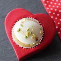 Valentin napi pisztáciás cupcake