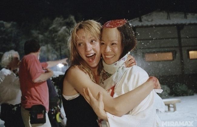 Uma Thurman a Kill Bill-ben, egy jó kis skalpolás után.