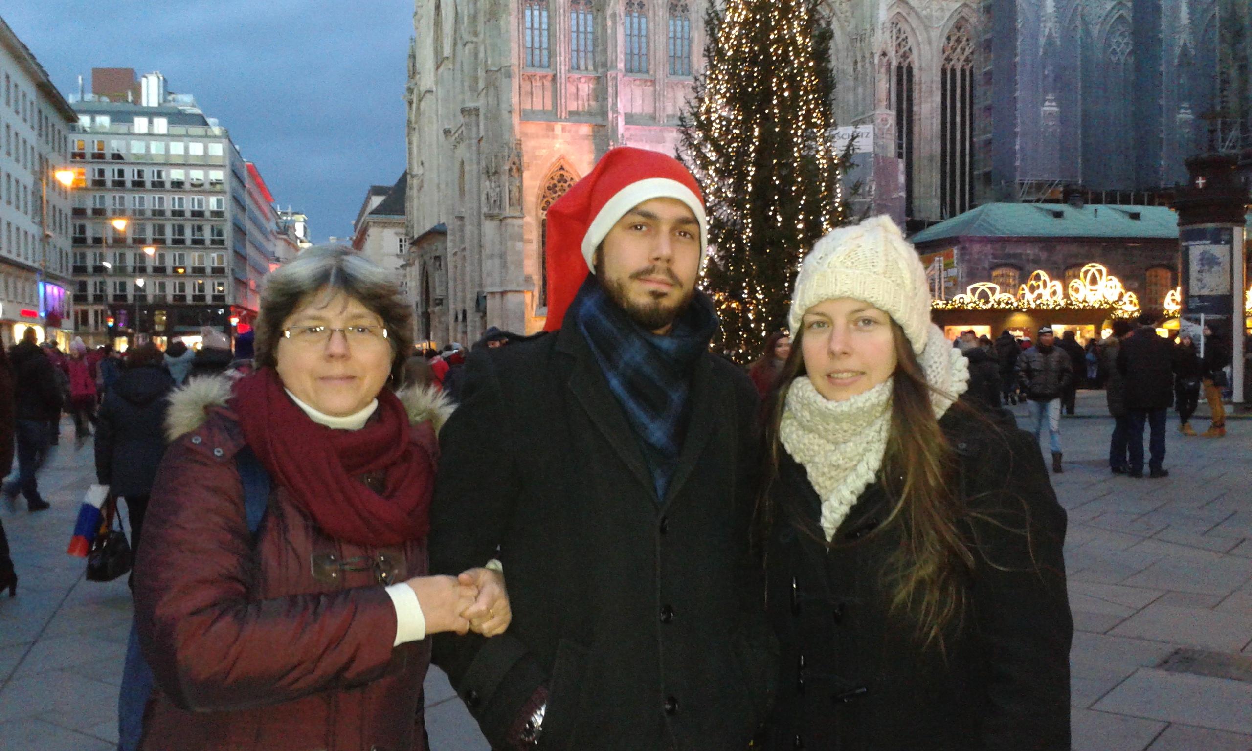 Stephansdom, Édesanyám és 'kis' öcsém
