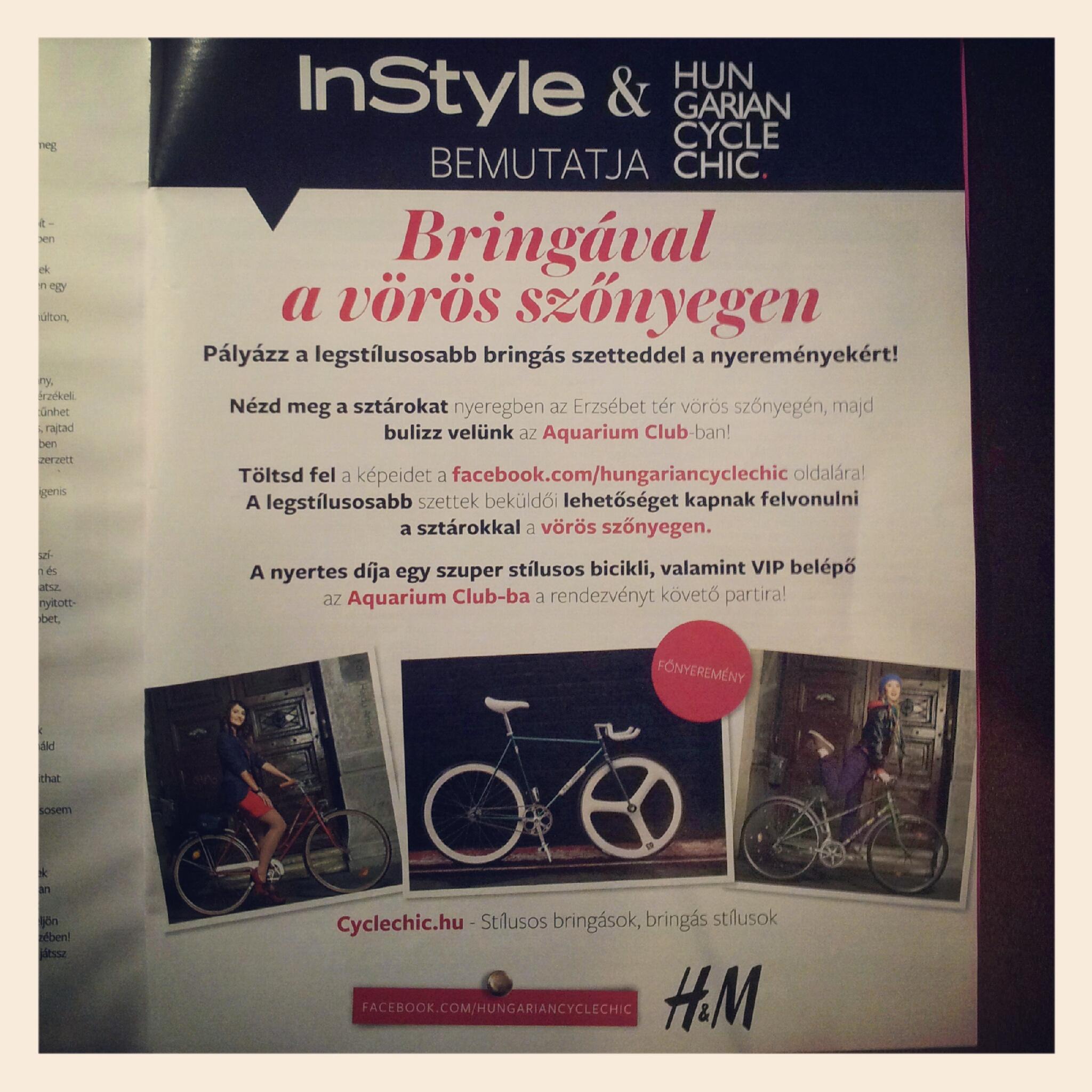 Az InStyle és a Cyclechic.hu bemutatja: Bringával a vörös szőnyegen!
