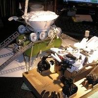 Papír-Curiosity és papír-Lunohod, ha találkoznak