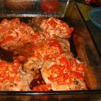 Paradicsomos, sajtos sertéskaraj - Dukan