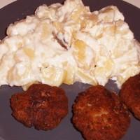Krumplifőzelék fasírttal