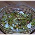 Zelleres magos zöldbabsaláta