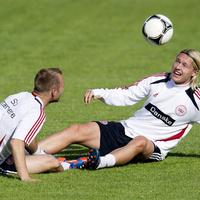 A játékosok örülnek, hogy van a szálláson dán adás