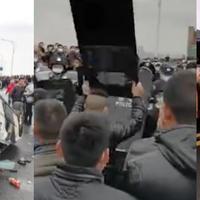 Civilek és rendőrök tűztek össze Kínában