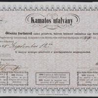 Forradalom, magyar papírpénz kibocsátás, kamatos utalvány