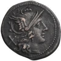 Az első római dénárok egyike