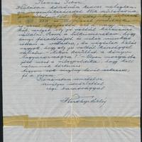 Horthy Miklós személyes levele aukción