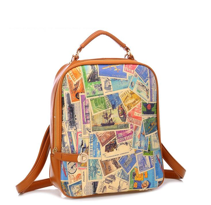 2014-Retro-flag-print-postage-stamp-design-student-korean-backpack-college-packsack-PU-leather-school-bag.jpg