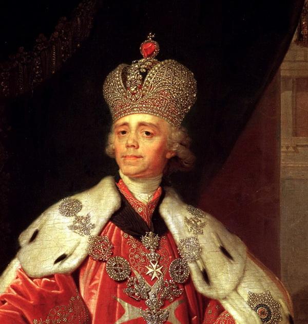 I. Pál az új cári koronával