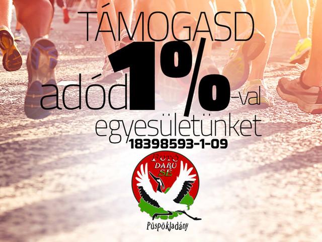 Támogasd adód 1%-val a Futó Daru Sportegyesületet