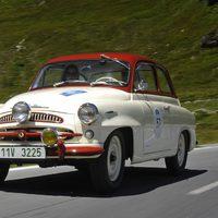 Veterán Skodák a Bodensee Klassik versenyen