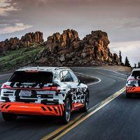 Audi e-tron: lefelé a Pikes Peakről