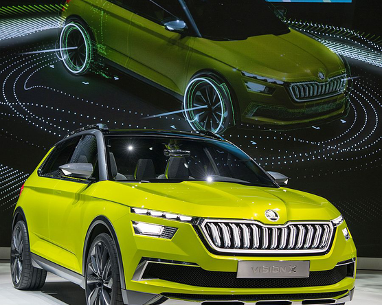 A Škoda Vision X, a gázmotoros hibrid