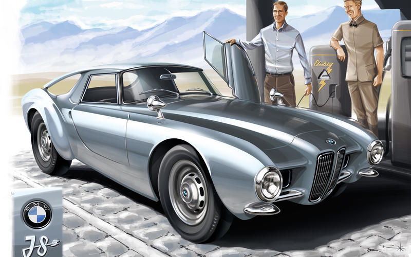 1956 BMW 507 – BMW i8