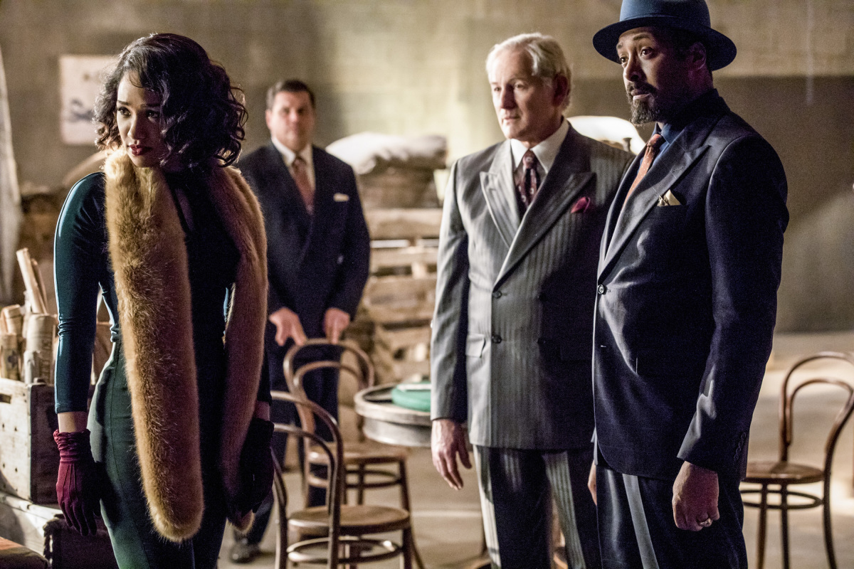 The Flash -- 'Duet' -- FLA317c_0544b.jpg -- Pictured (L-R): Candice Patton as Iris West, Victor Garber as Professor Martin Stein and Jesse L. Martin as Detective Joe West -- Photo: Jack Rowand/The CW -- © 2017 The CW Network, LLC. All rights reserved.