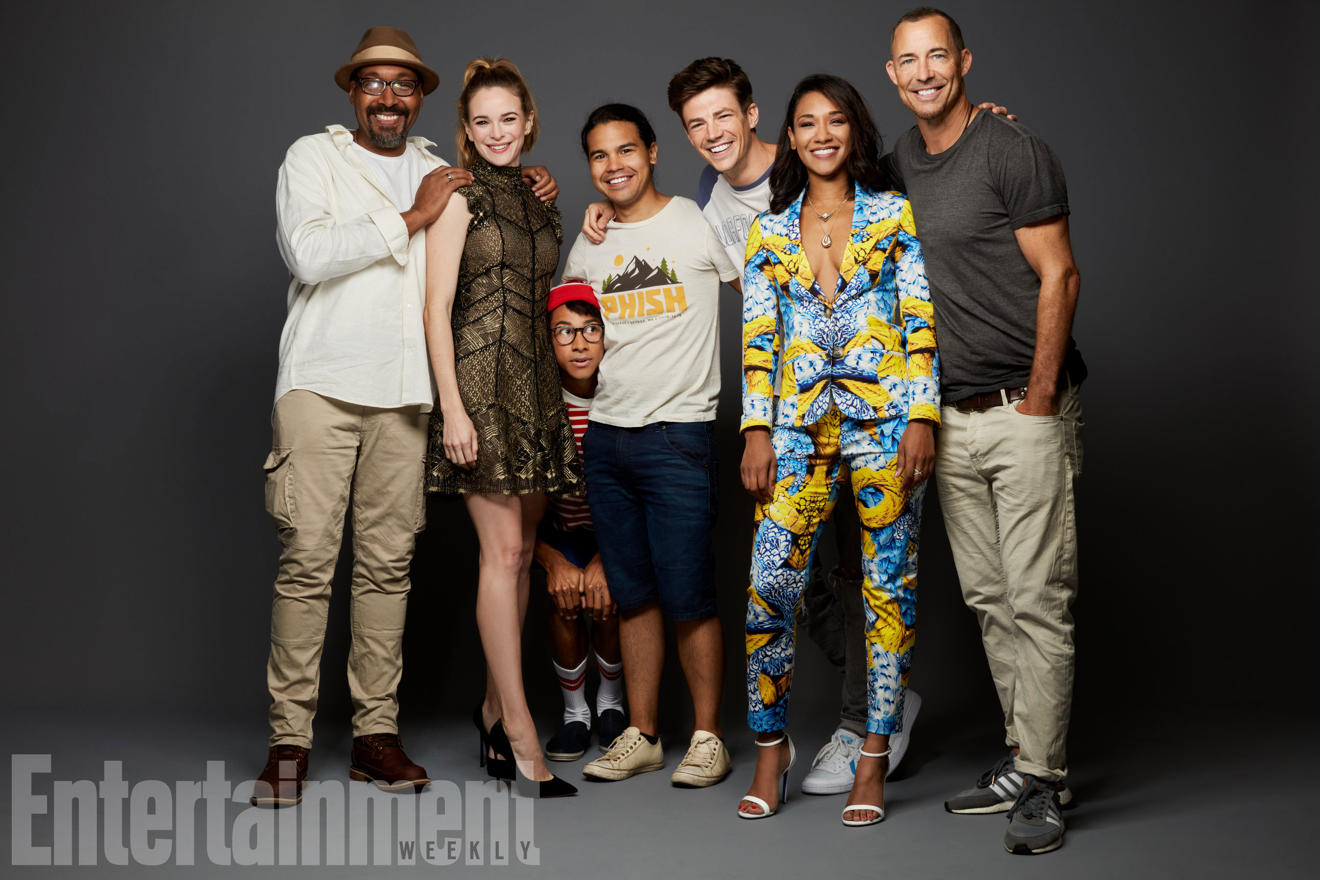 Jesse L. Martin, Danielle Panabaker, Keiynan Lonsdale, Carlos Valdes, Grant Gustin, Candice Patton és Tom Cavanagh (The Flash)