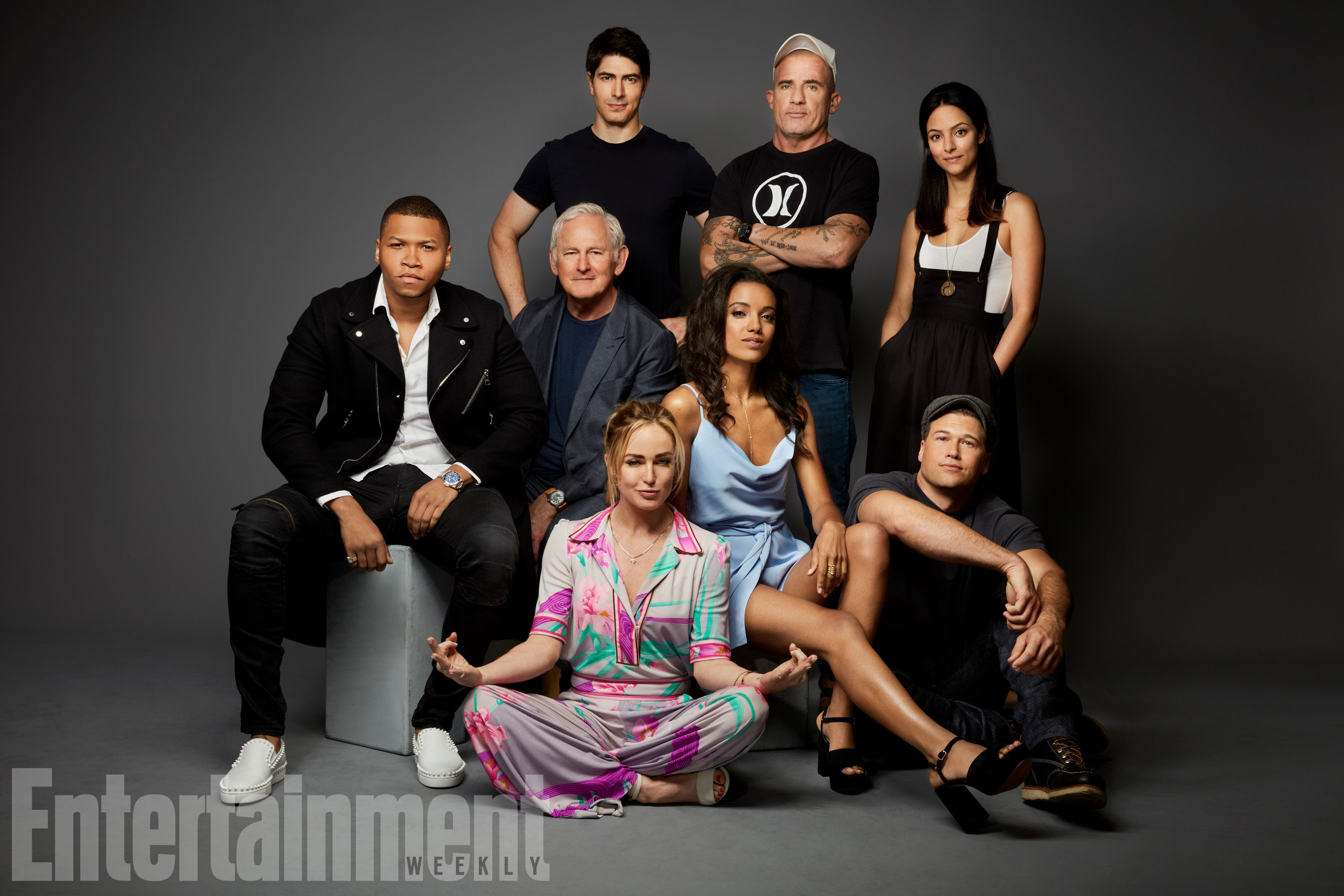 Tala Ashe, Brandon Routh, Dominic Purcell, Franz Drameh, Victor Garber, Caity Lotz, Maisie Richardson-Sellers, Nick Zano (DC's Legends of Tomorrow)