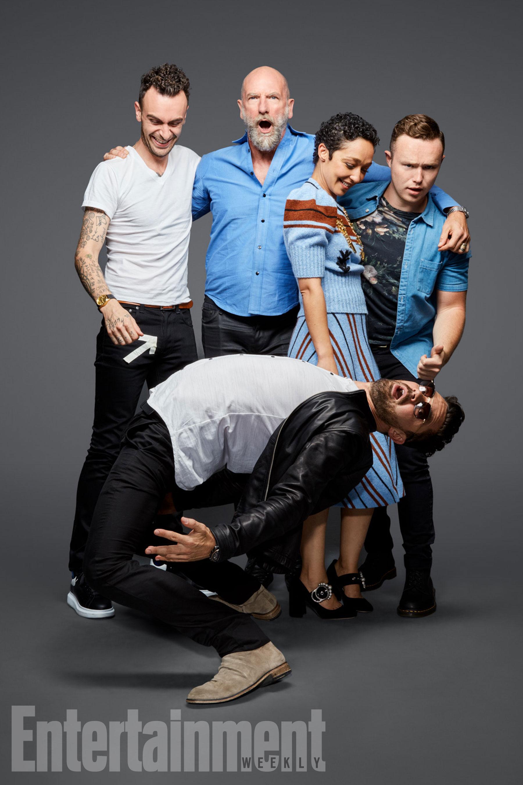 Joseph Gilgun, Graham McTavish, Ruth Negga, Ian Colletti és Dominic Cooper (Preacher)