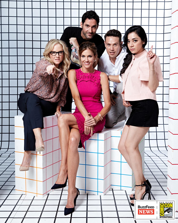 Lucifer<br /><br />Rachael Harris, Tom Ellis, Tricia Helfer, Kevin Alejandro és Aimee Garcia.