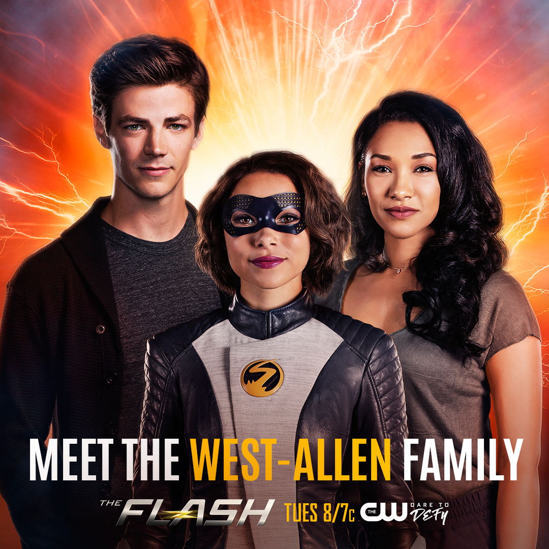 The Flash's Grant Gustin, Jessica Parker Kennedy and Candice Patton