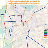 Kerékpárút fejlesztések Debrecenben