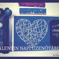 Valentin napi üzenőtábla