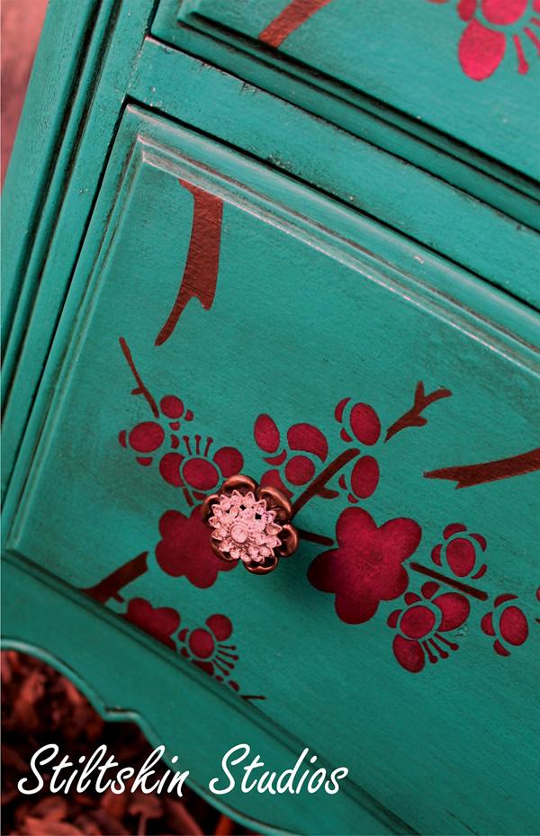 cherry blossom dresser and Jen's table 3.JPG