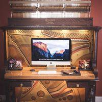Egy 1907-es pianinóból luxus asztal! Csináld magad ötlet nagyon haladóknak!