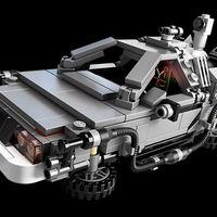 Hasonlóságok az igazi és a LEGO Delorean között